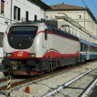 Treno pellegrini per Loudes in sosta a Perugia - 2017