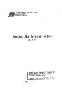 Read more about the article Esercizio condotta A.T. rotabili